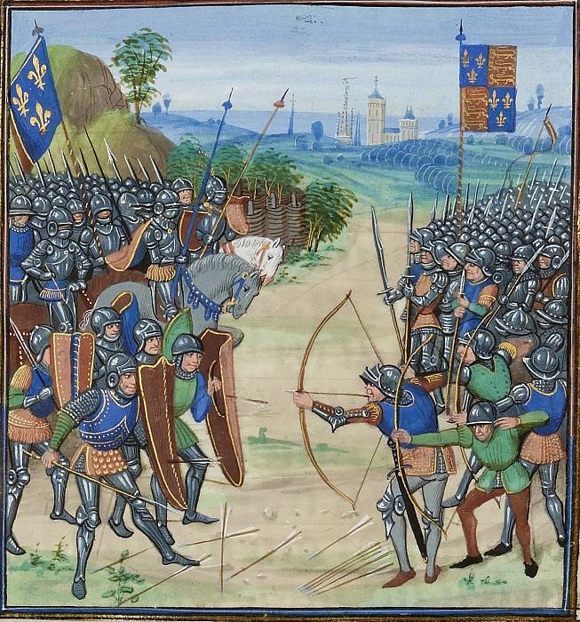 A218R Битва при Сент-Клементе в 1358 году. Хроники Фруассара