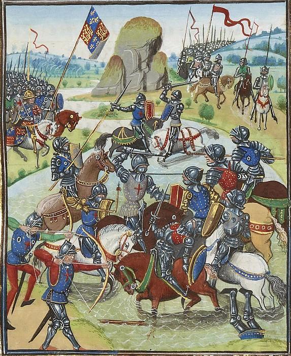 A159R Сражение мужду англичанами и Амьенцами. Хроники Фруассара