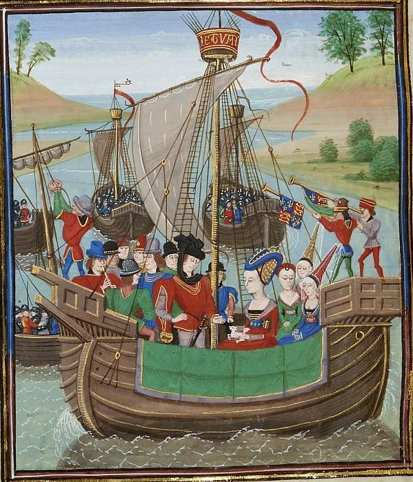 A007L Возвращение в Англию Изабеллы Французской с лордом Мортимером и графом Эно. Хроники Фруассара