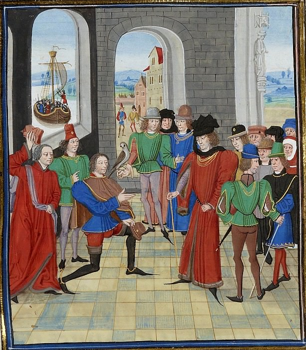 A013L Встреча короля Шотландии Роберта Брюса и Эдуарда III. Хроники Фруассара