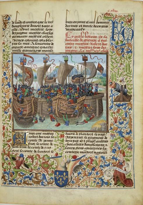 A118R Морское сражение при Гернси между французами под предводительством Людовика Испанского и англичанами в 1342 году. Хроники Фруассара
