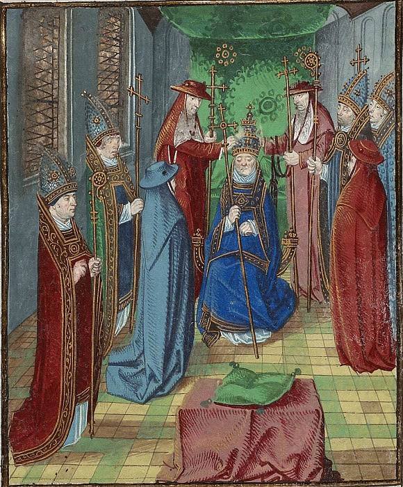 D190L Коронация антипапы Бенедикта XIII в Авиньоне в 1394 году. Хроники Фруассара