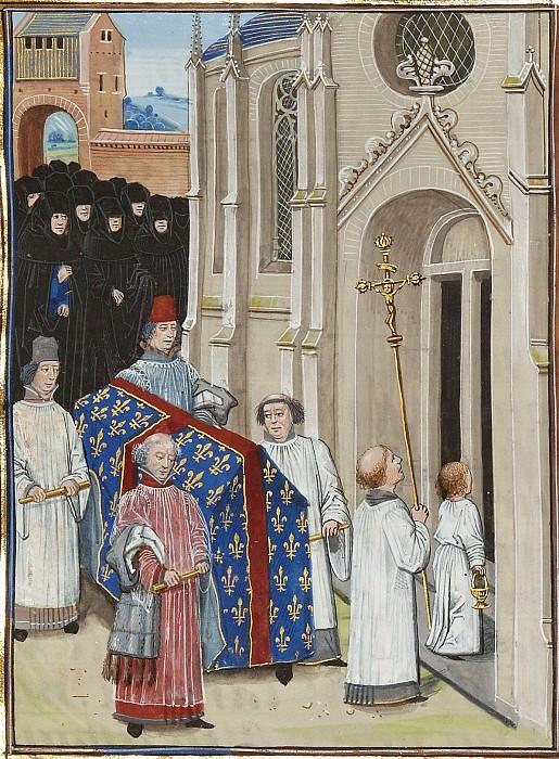 A191R Похороны Филиппа VI, короля Франции. Хроники Фруассара