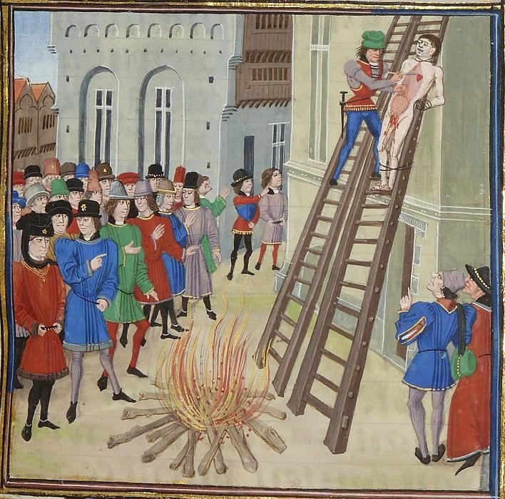 A011R Казнь Хьюга Диспенсера, фаворита Эдуарда II. Хроники Фруассара