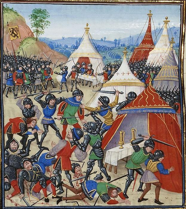 A028L Битва при Касселе между французами и фламандцами в 1328 году. Хроники Фруассара