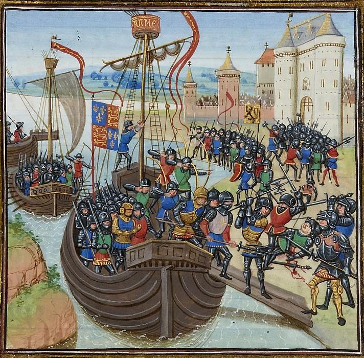 A042L Битва при Кадсане между англичанами и фламандцами в 1337 году. Хроники Фруассара