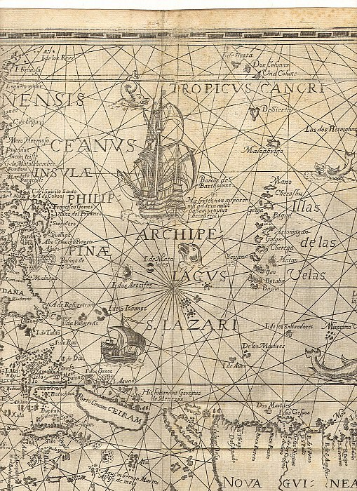 Jan van Linschoten - Spice Islands, 1598. Antique world maps HQ
