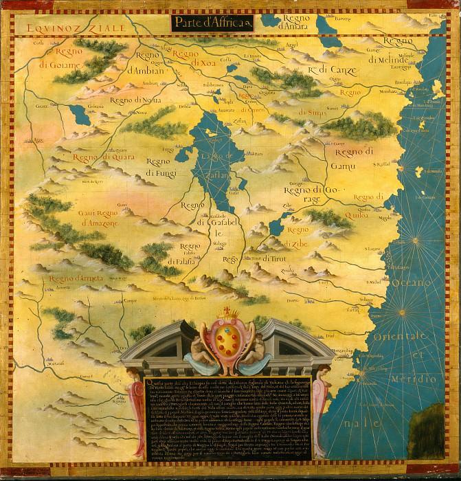 Восточная Африка южнее Экватора. Древние карты мира в высоком разрешении - Старинные карты