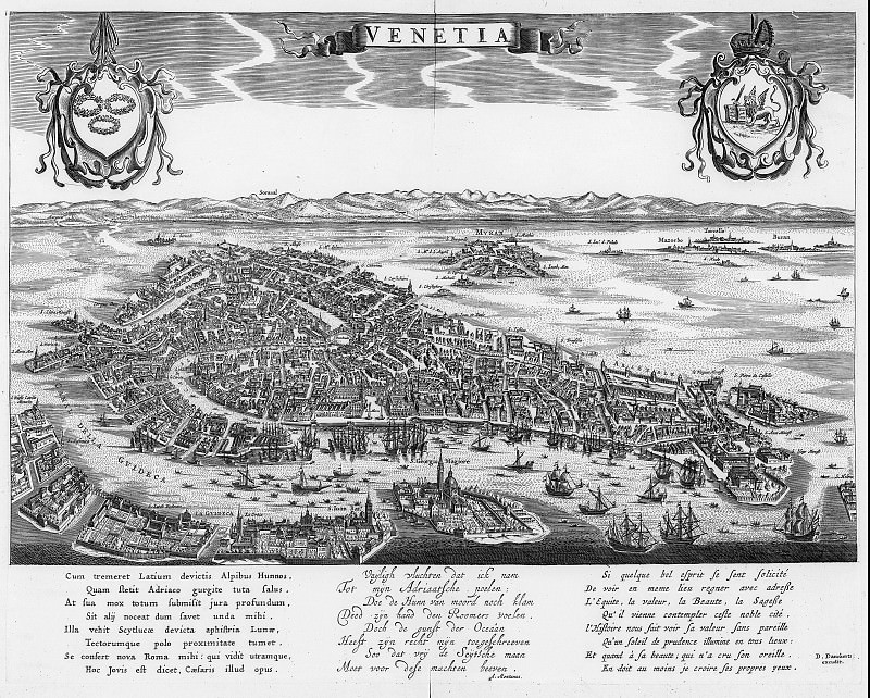 Данкер Данкертс - Венеция, 1661. Древние карты мира в высоком разрешении - Старинные карты