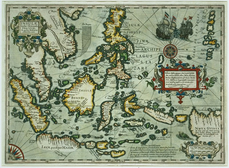 Map of the East Indies. Antique world maps HQ