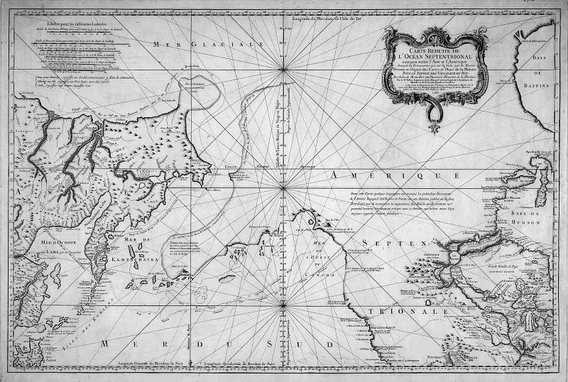 Jacques-Nicolas Bellin - Reduced cart of the northern ocean, 1766. Antique world maps HQ