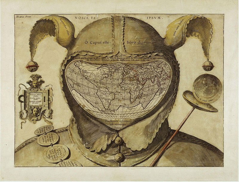 Fools Cap Map of the World. Antique world maps HQ