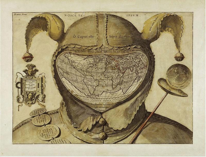 Карта Мира, помещенная в голову Дурака. Древние карты мира в высоком разрешении - Старинные карты