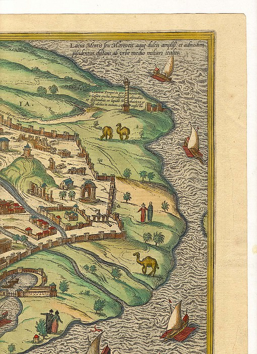 Georg Braun and Frans Hogenberg - Alexandria, 1575. Antique world maps HQ