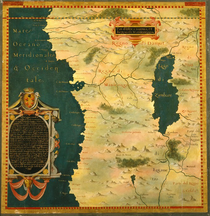 Конго. Древние карты мира в высоком разрешении - Старинные карты