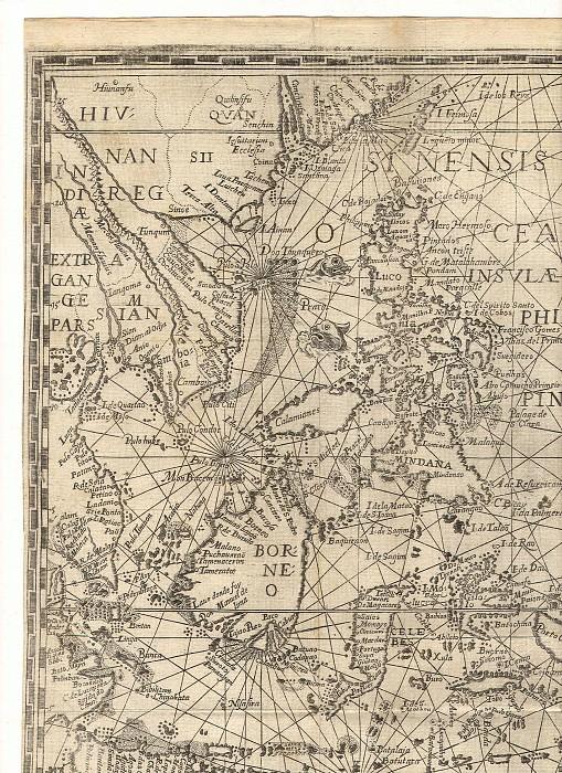 Ян ван Линсхотен - Молуккские острова (Острова пряностей), 1598. Древние карты мира в высоком разрешении - Старинные карты