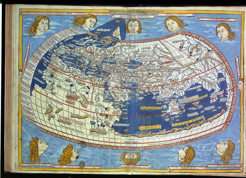 World map attributed to Ptolemy. Antique world maps HQ