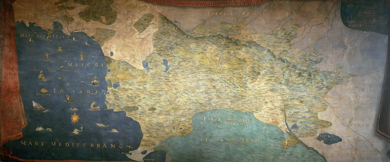 Grand Duke of Tuscany, 1589. Antique world maps HQ