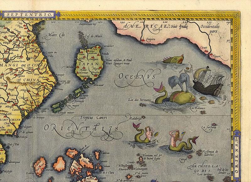 Abraham Ortelius - East Indies, 1570. Antique world maps HQ