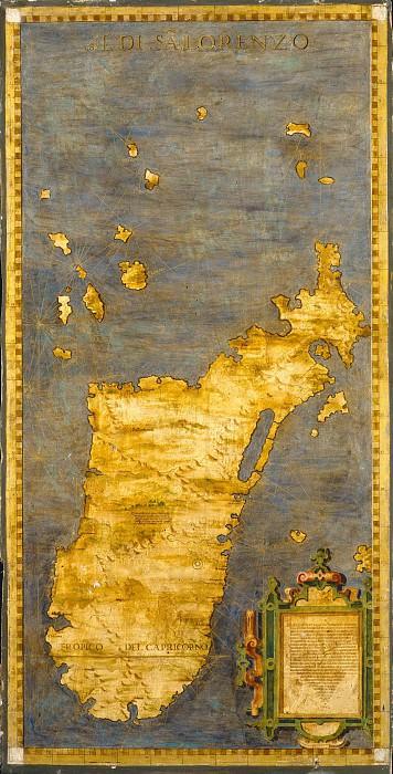 Madagascar. Antique world maps HQ