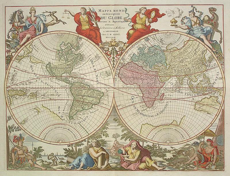 Карта мира, 1792. Древние карты мира в высоком разрешении - Старинные карты