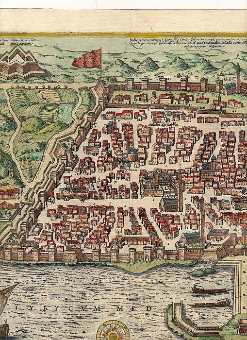 Георг Браун и Франц Хогенберг - Алжир, 1574. Древние карты мира в высоком разрешении - Старинные карты