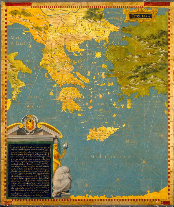 Map of Greece. Antique world maps HQ