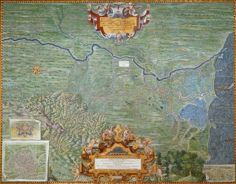 Map of the Duchy of Ferrara. Antique world maps HQ