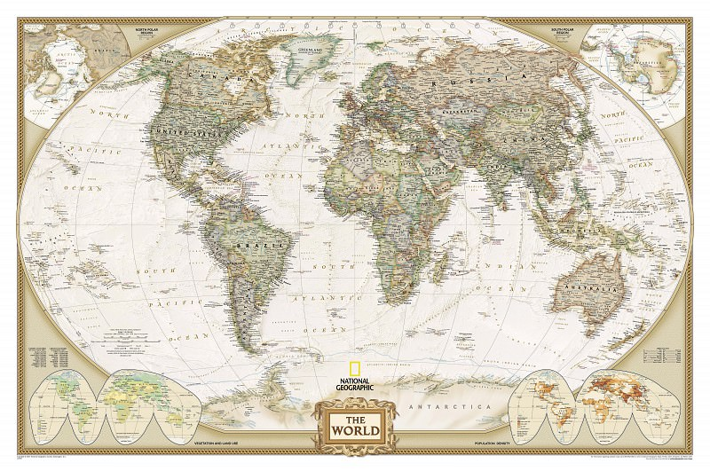 The map of the World in Antique style, 2007. Antique world maps HQ