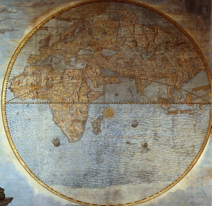 Map of the Eastern Hemisphere, 1583. Antique world maps HQ