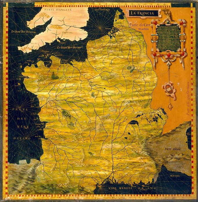 Франция. Древние карты мира в высоком разрешении - Старинные карты