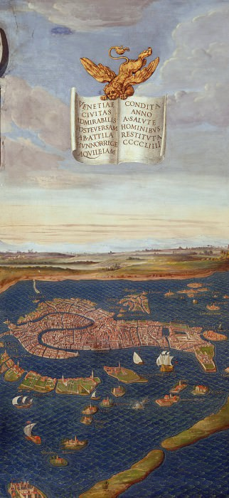 View of Venice. Antique world maps HQ