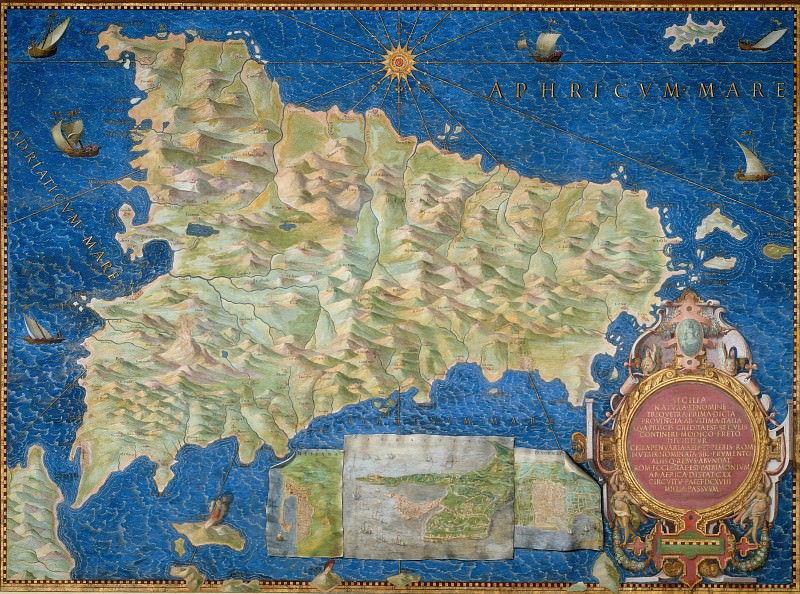 Sicily. Antique world maps HQ