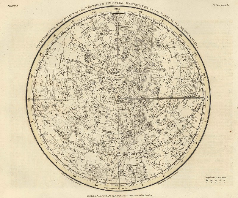 Northern Hemisphere. Antique world maps HQ