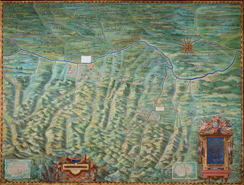 Map of the Duchy of Parma and Piacenza. Antique world maps HQ