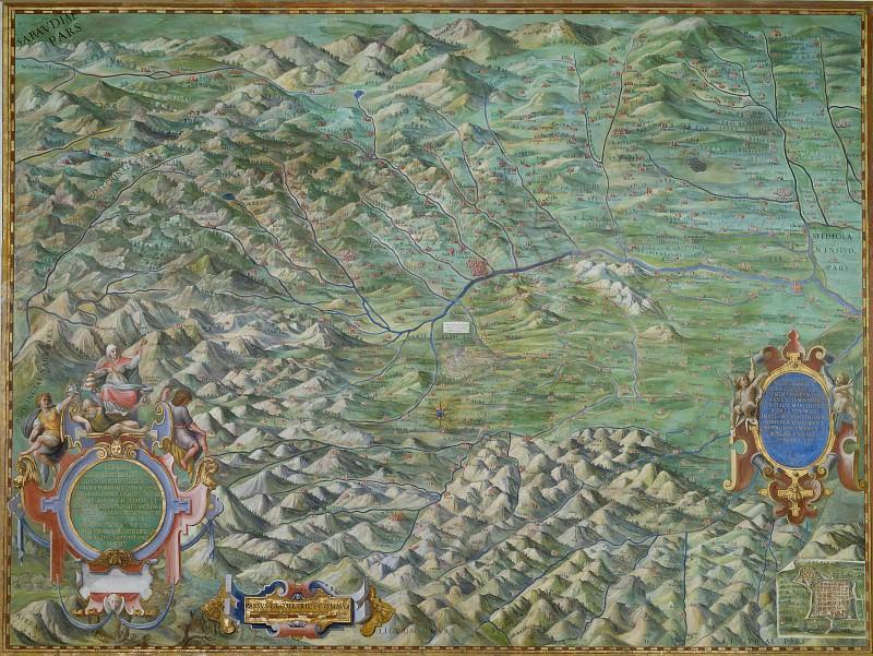 Piedmont and Monferrato. Antique world maps HQ