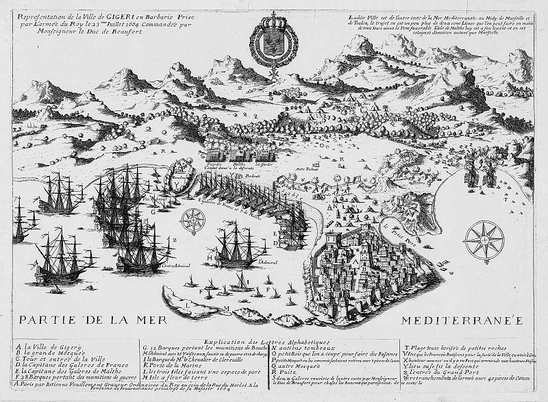 Prise de Gigeri en 1664 par l. Antique world maps HQ