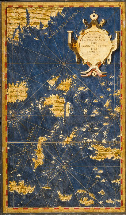 Молуккские острова (Острова пряностей). Древние карты мира в высоком разрешении - Старинные карты