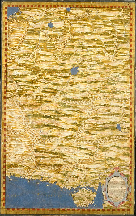 Map of the area between the Caspian Sea and the Arabian Sea. Antique world maps HQ