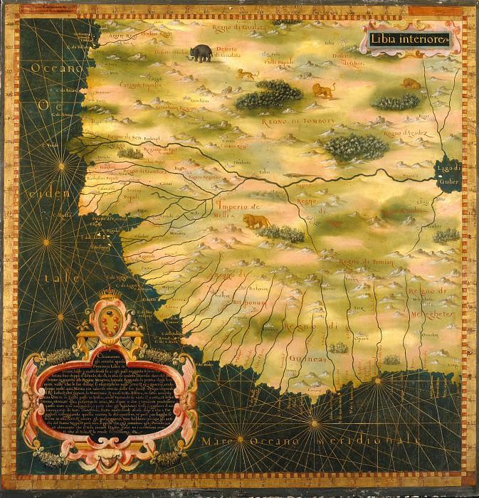 Западная Африка. Древние карты мира в высоком разрешении - Старинные карты