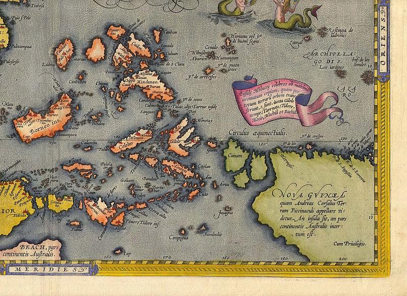 Абрахам Ортелий - Ост-Индия, 1570. Древние карты мира в высоком разрешении - Старинные карты
