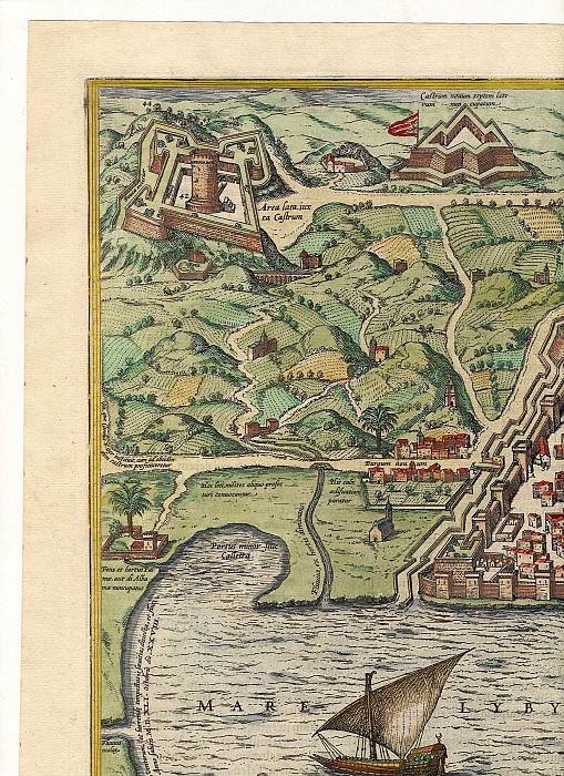 Georg Braun and Frans Hogenberg - Algiers, 1574. Antique world maps HQ