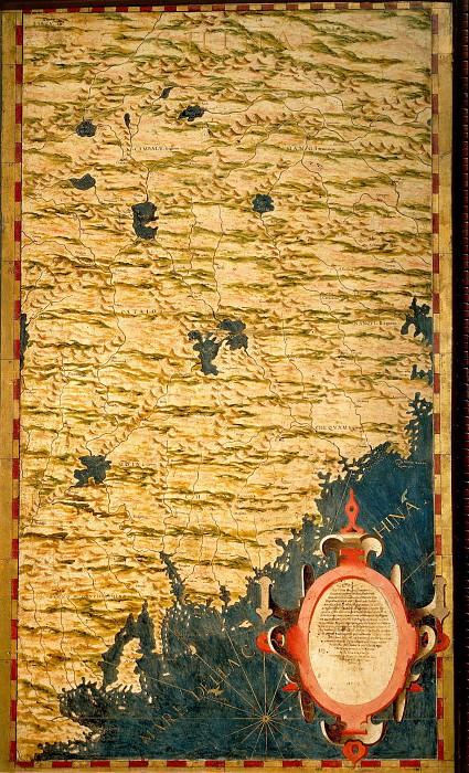 Карта части Китая. Древние карты мира в высоком разрешении - Старинные карты