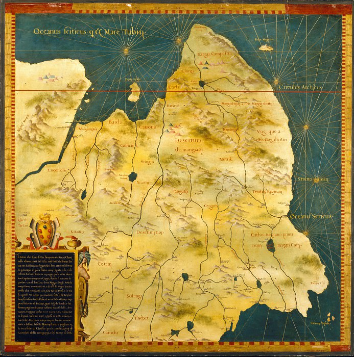 Map of Eastern Siberia. Antique world maps HQ