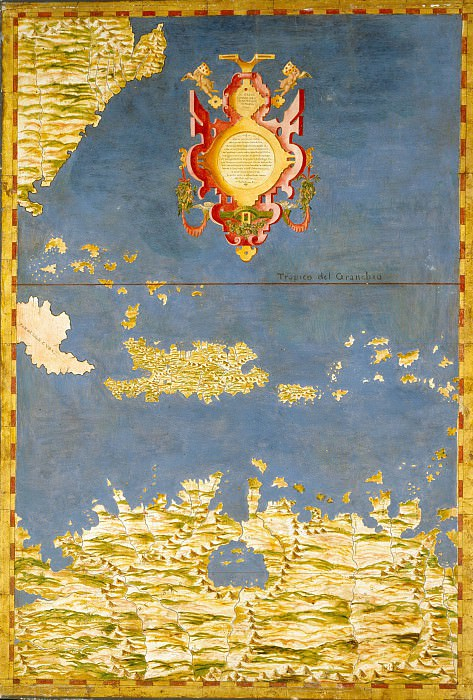 Map of the West Indies (The Caribbean islands). Antique world maps HQ