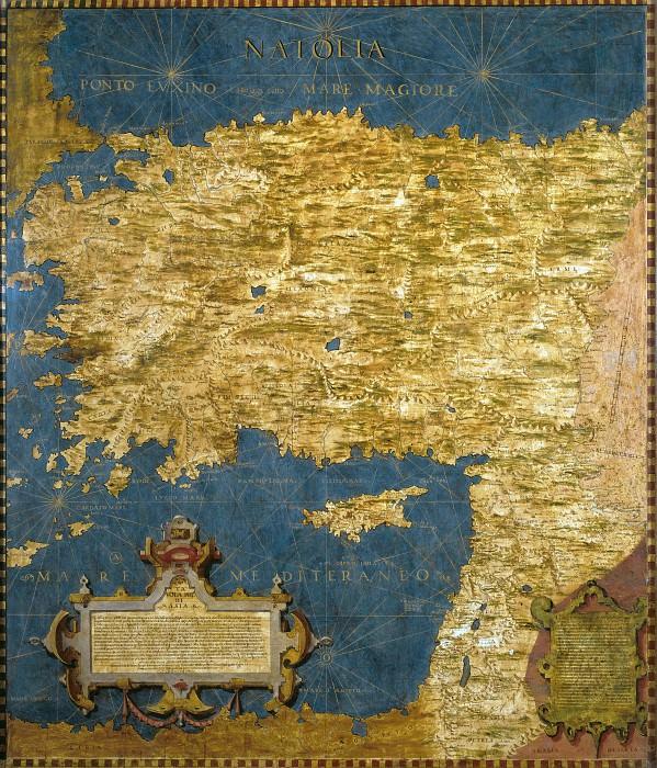 Asia Minor. Antique world maps HQ
