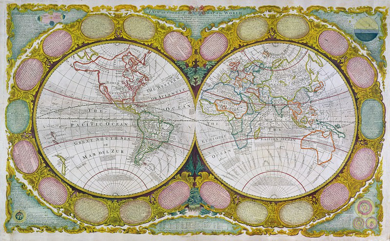 Robert Wilkinson - A Map of the World. Antique world maps HQ