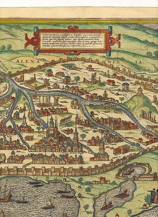 Georg Braun and Frans Hogenberg - Alexandria, 1575. Antique world maps HQ