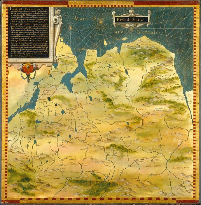 A part of Scythia. Antique world maps HQ