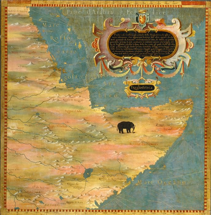 Map of the Horn of Africa. Antique world maps HQ